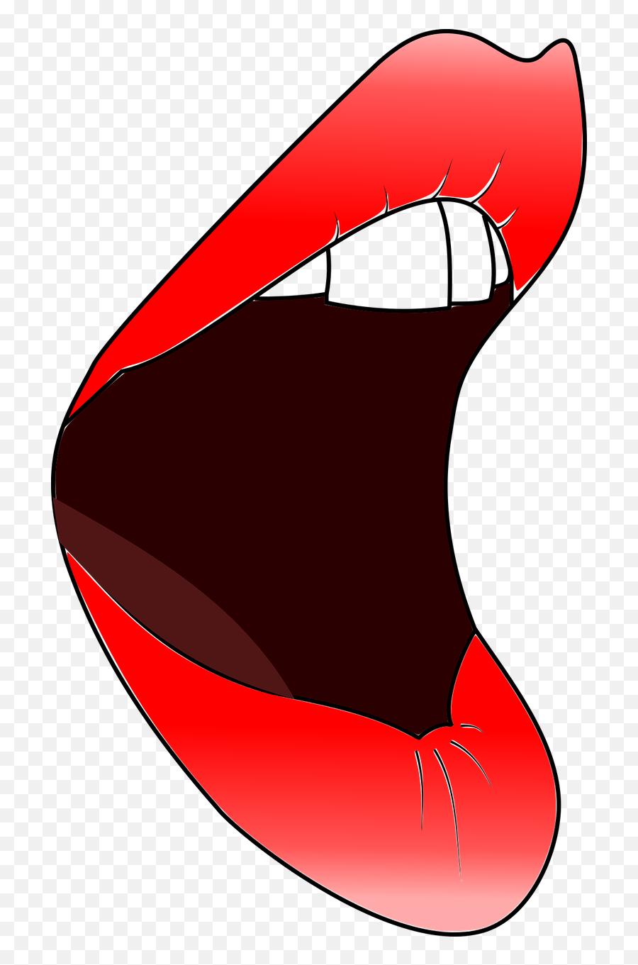 Lips Mouth Woman Red Open - Lips Emoji
