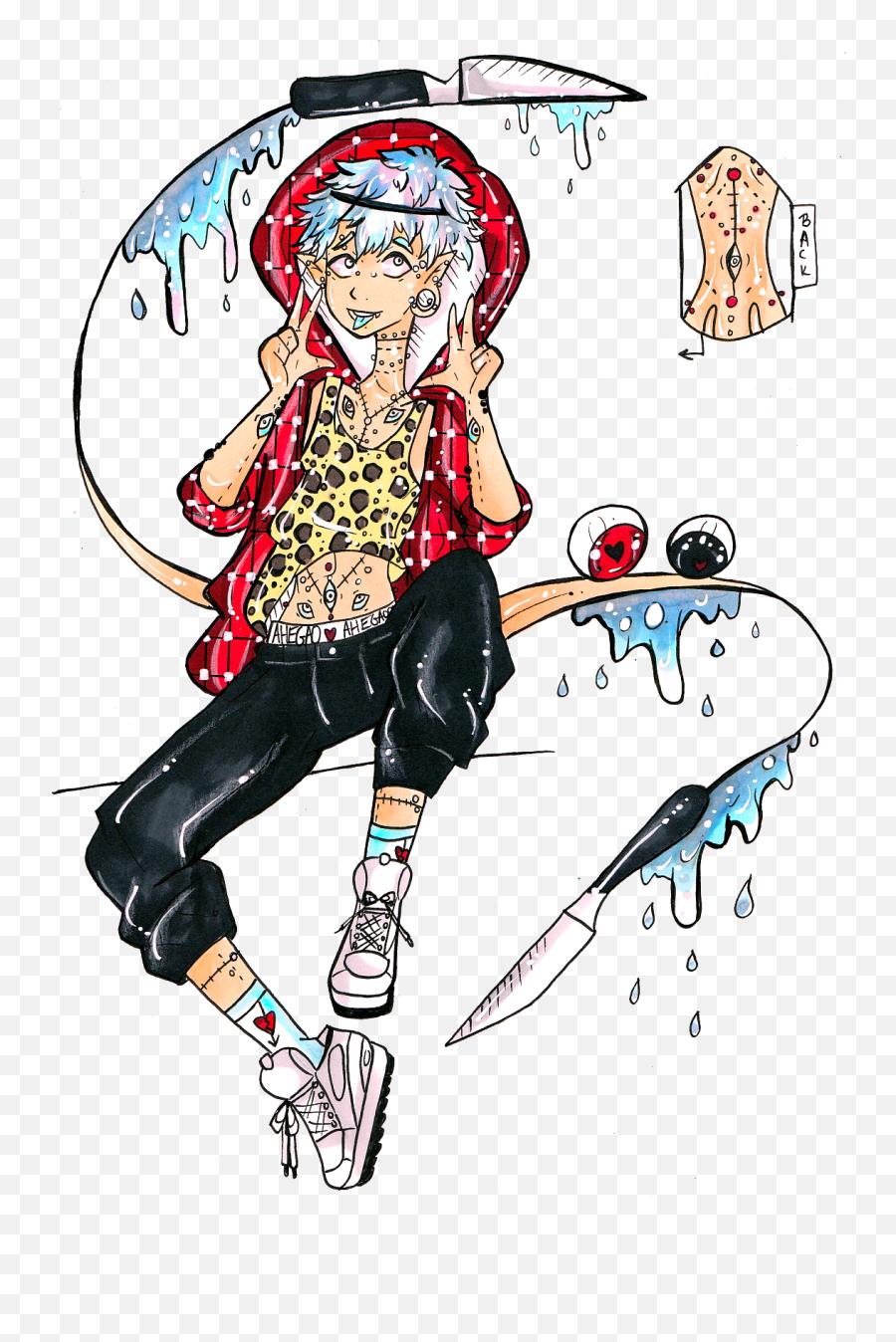 Ahegao Delinquent 1 - Cartoon Emoji,Ahegao Emoji