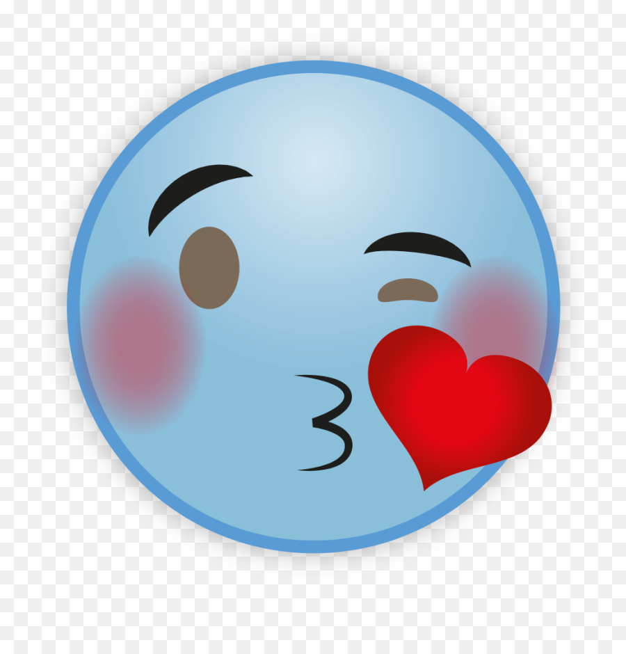 Cute Sky Blue Emoji Png Hd - Heart