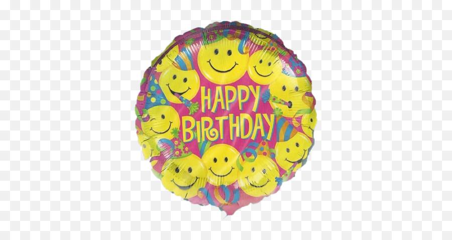 Happy Birthday Balloon - Happy Birthday Smiling Emoji
