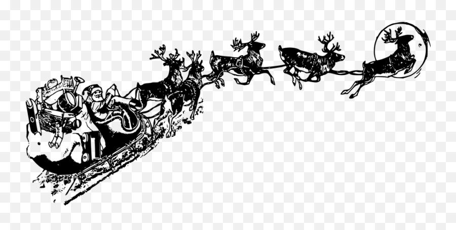 Santa Claus Christmas Vectors - Santa Sleigh Transparent Background Emoji,Christmas Tree Emoticon
