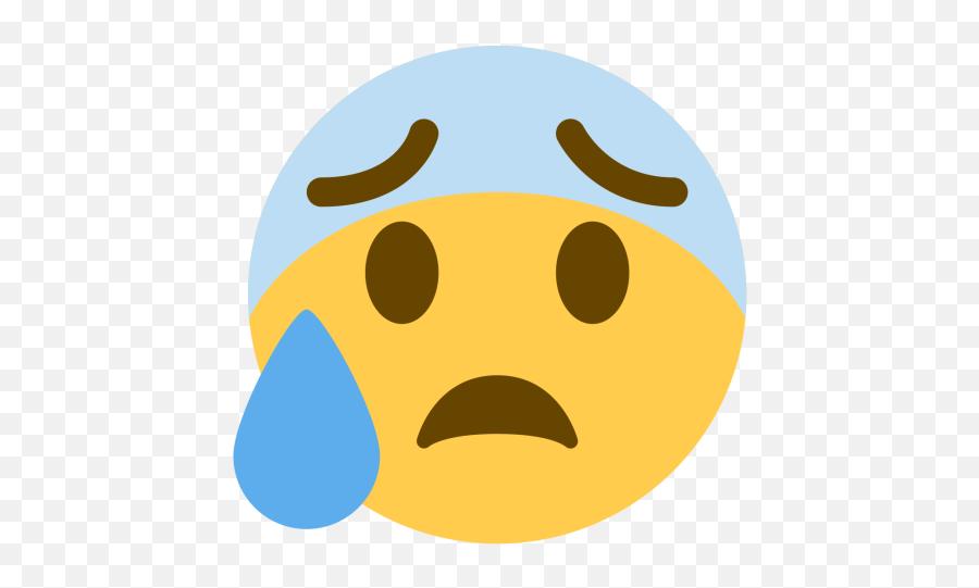 Blue Icon Of Flat Style - Discord Cold Sweat Emoji,Mouth Watering Emoji