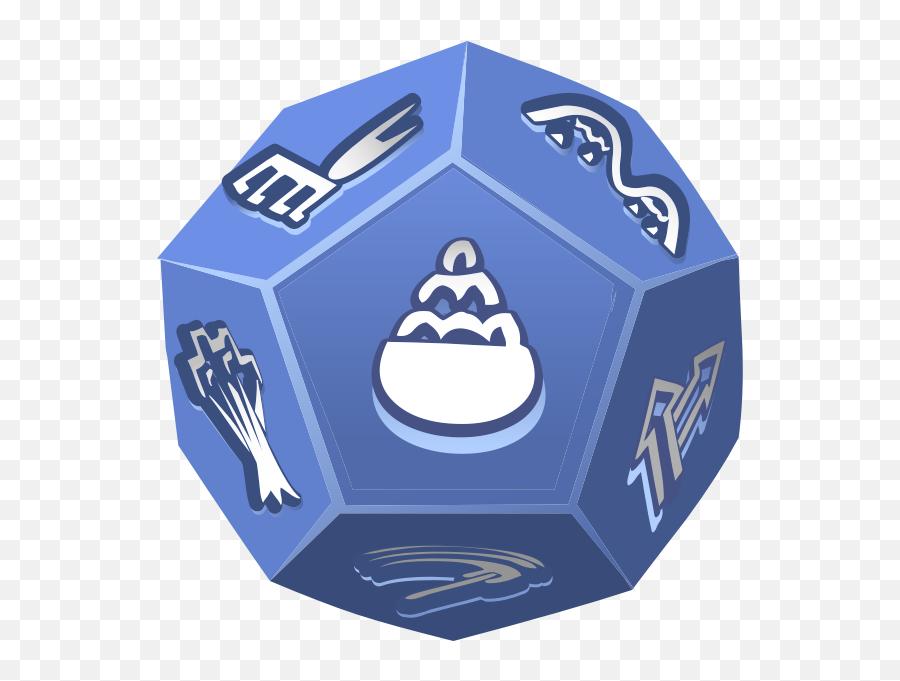 Unusual Dice - 12 Sided Dice Vector Emoji,Crown Emoticon