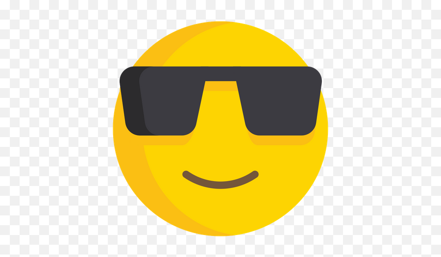 Smiling Face With Sunglasses Emoji Icon Of Flat Style - Smiley