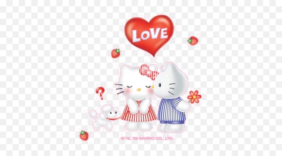 Hello Kitty - Happy Kiss Day Funny Emoji