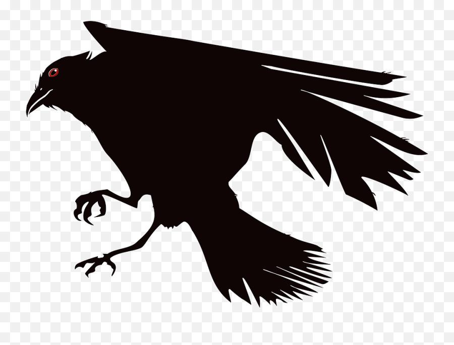 Crow Raven Bird - Gambar Burung Gagak Animasi Emoji