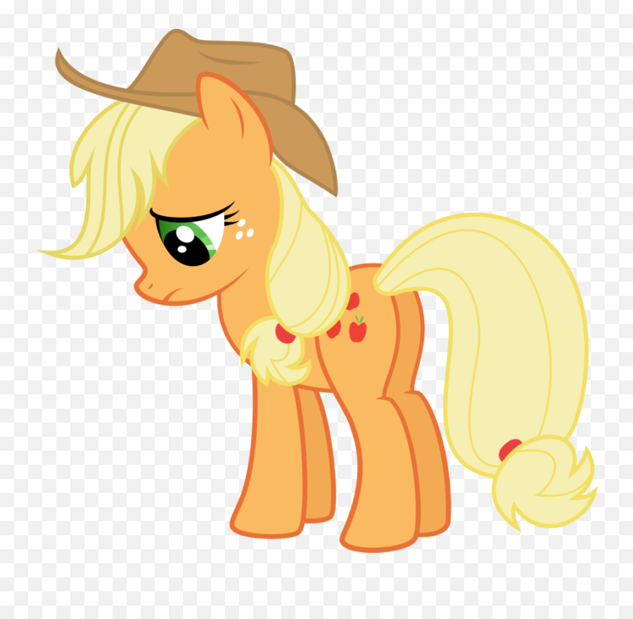 If you should delete one of the mane 6 which one would you - My Little Pony Applejack Emoji