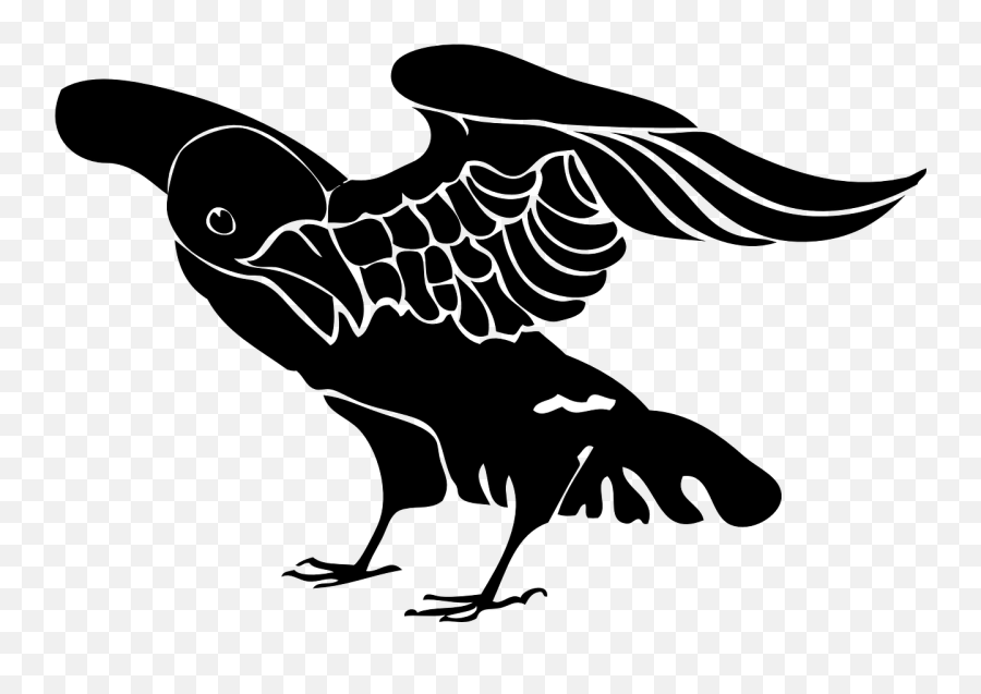 Raven Crow Black Bird Corvine Bird - Aboriginal Symbol For The Crow Emoji