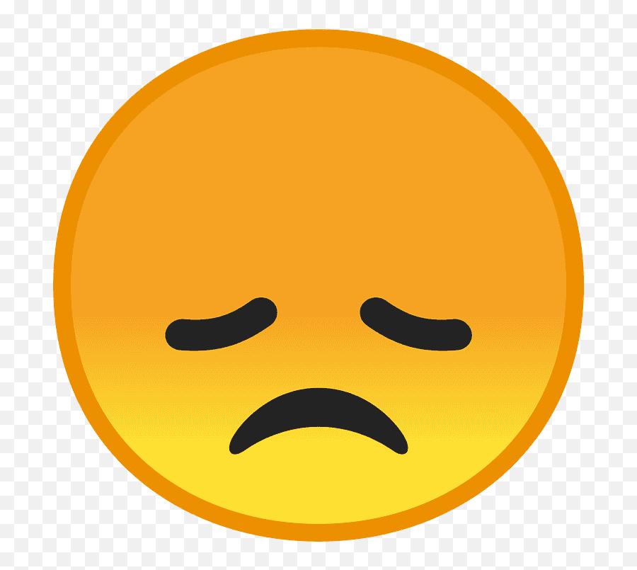Disappointed Face Emoji Clipart - Emoji De Decepcion,Flushed Face Emoji