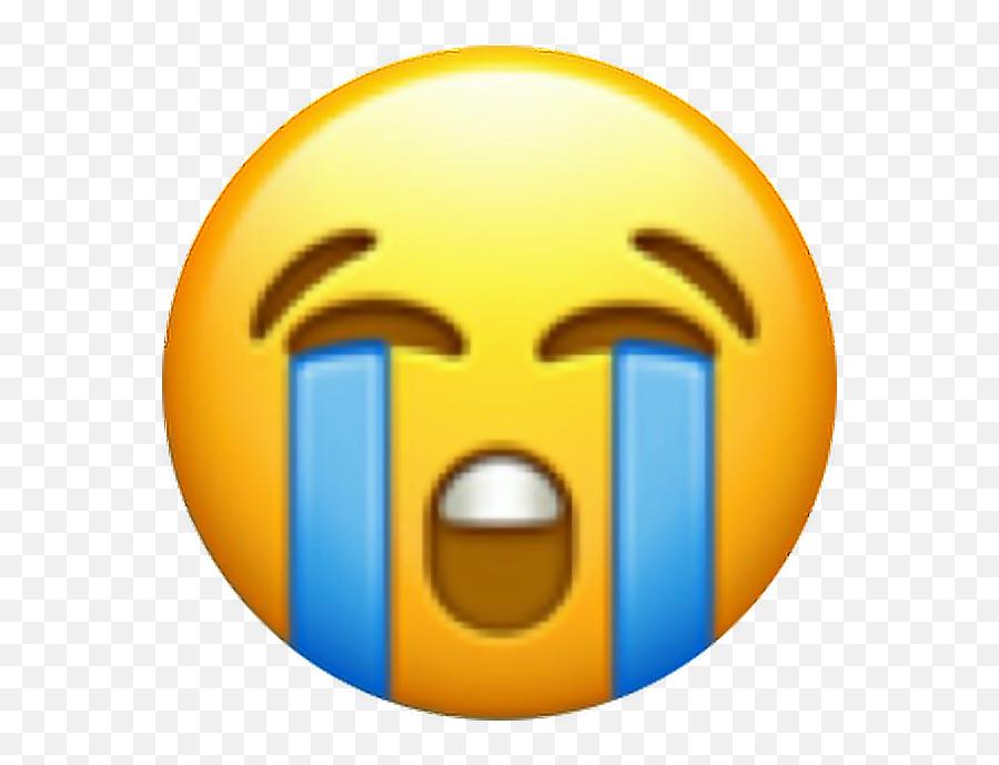 Cry Emoji Heulen Tears Waterfull Water Emotion Blue Yel - Crying Emoji Ios,Angry Crying Emoji