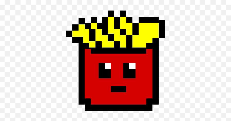 Pixilart - French Fries Pixel Art Emoji,Loudly Crying Emoji