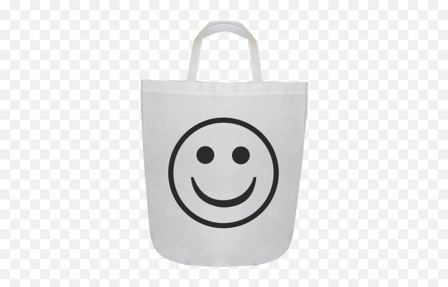 Shopping bag 42 x 45 cm with printing Smiley - Smiley Emoji