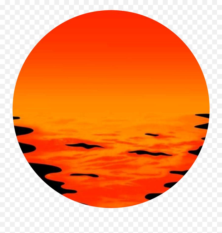 Yellow Red Circle Sun Sea Angry Black - Picsart Circle Png Emoji