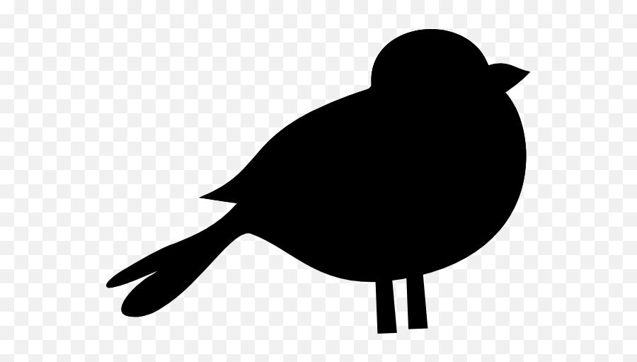 A Black Bird Clip Art 2 - Black Bird Clip Art Emoji