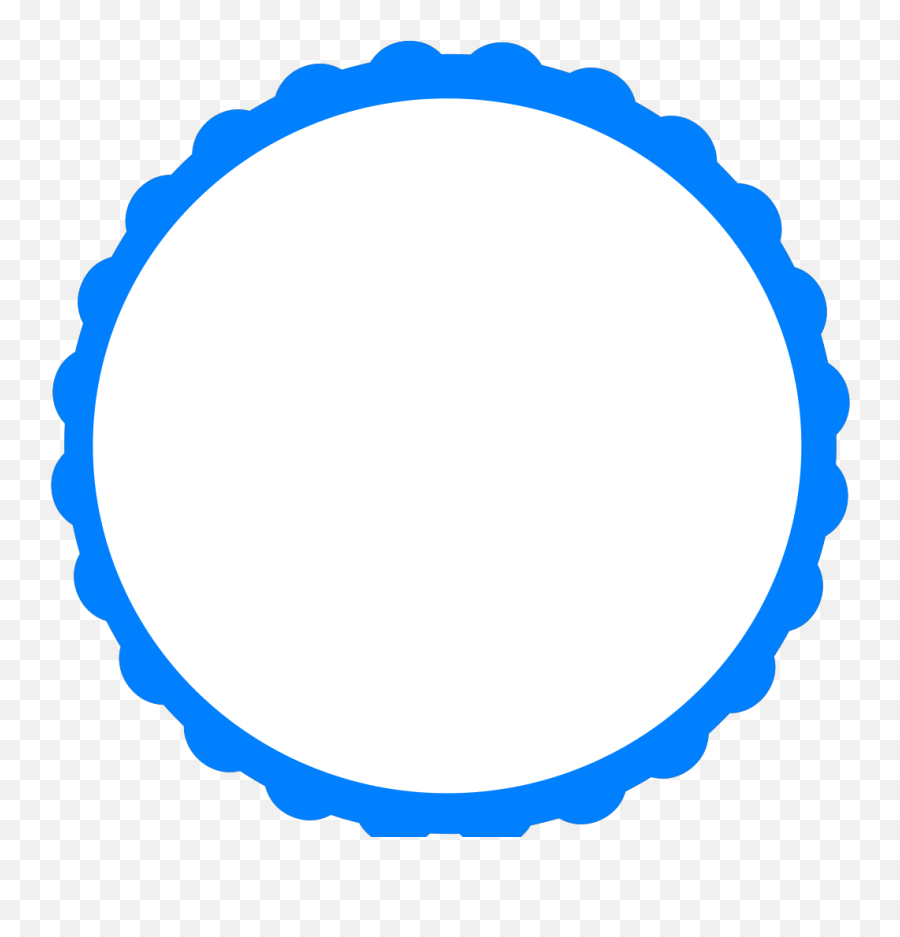 Blue Scallop Png Svg Clip Art For Web - Transparent Pink Circle Border Emoji,Superman Emoji Art Copy And Paste
