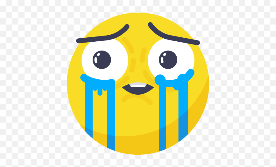 Cry Icon Of Flat Style - Smile Cry Png Emoji,Loudly Crying Emoji
