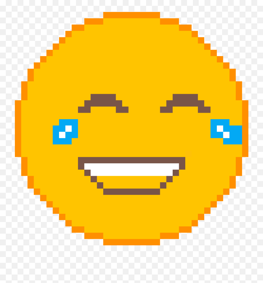 Pixilart - Pixelated Red Circle Emoji,Crying With Laughter Emoji