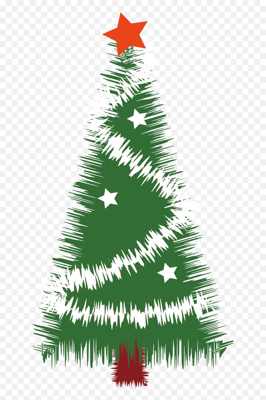 Christmas Tree Silhouette - Christmas Tree Vector Material Christmas Tree Png Silhouette Emoji,Christmas Tree Emojis