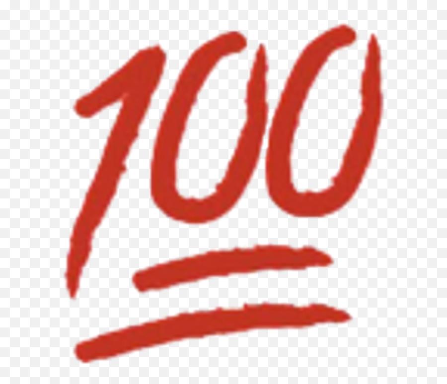 100 Emoji - 100 Underlined