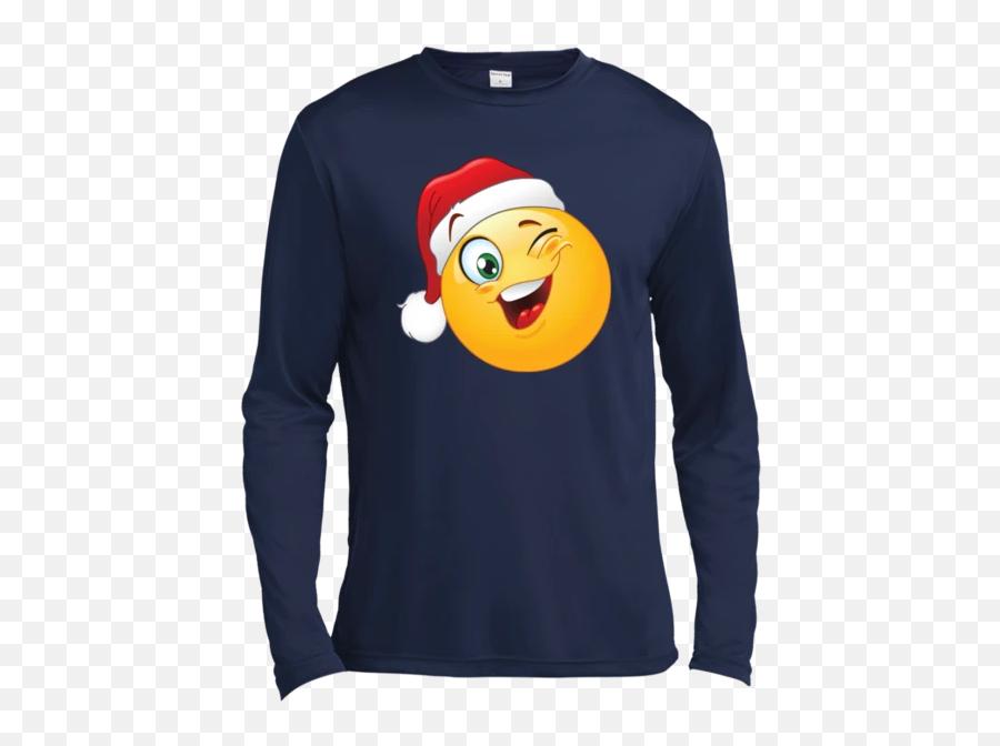Emoji T Shirt St350ls Spor,Santa Clause Emoji