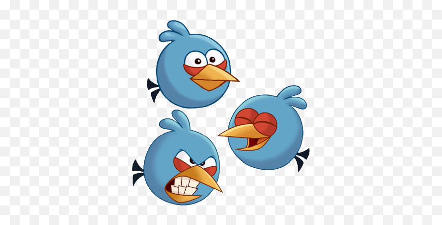 Download Blue Angry Bird Drawing - Angry Birds Toons The  Angry Birds 2 The Blues Emoji