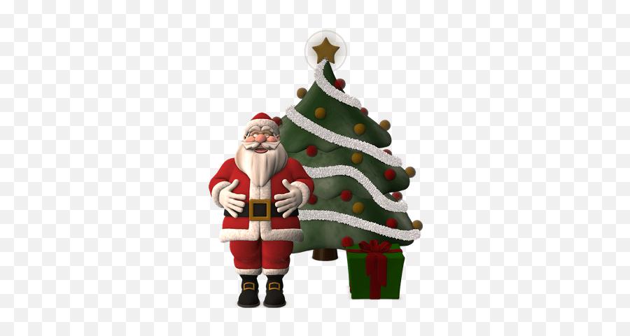 Santa Claus Christmas Tree Png Hd Transparent Background - Santa Claus Emoji,Christmas Tree Emojis