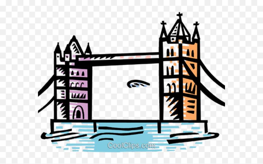 Tower Bridge Clipart Cartoon - Png Download Full Size Clip Art Emoji,Eiffel Tower Emoji Iphone