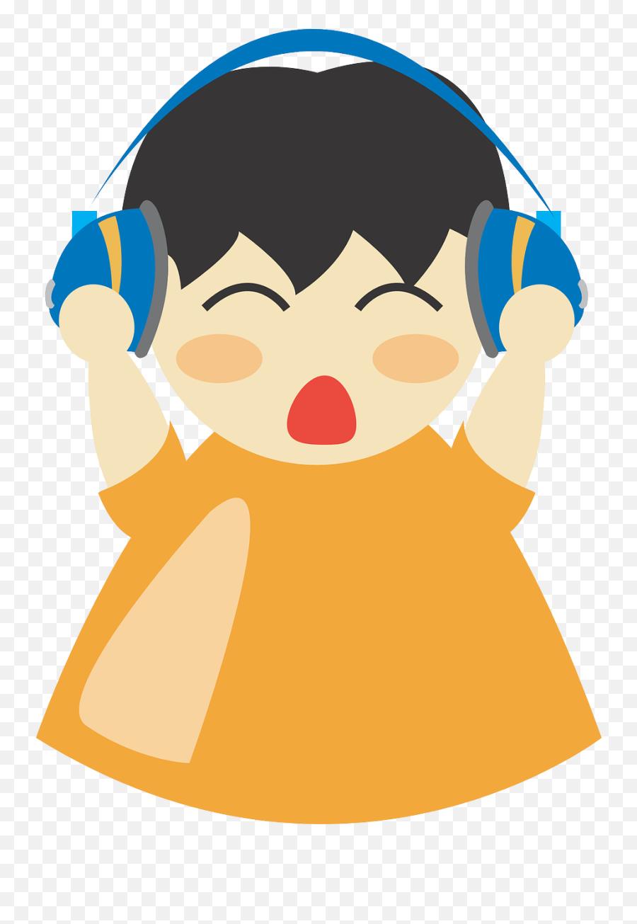 Earphones Boy Headphone Listening Man - Gambar Kartun Anak Mendengarkan Musik Emoji,Apple Animated Emojis