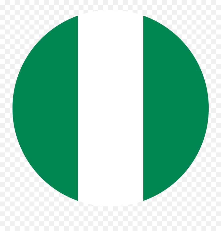 Transparent Nigeria Flag - Nigeria Flag Circle Png Emoji
