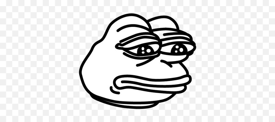 Poggers Png No Background - Black And White Meme Pepe Emoji