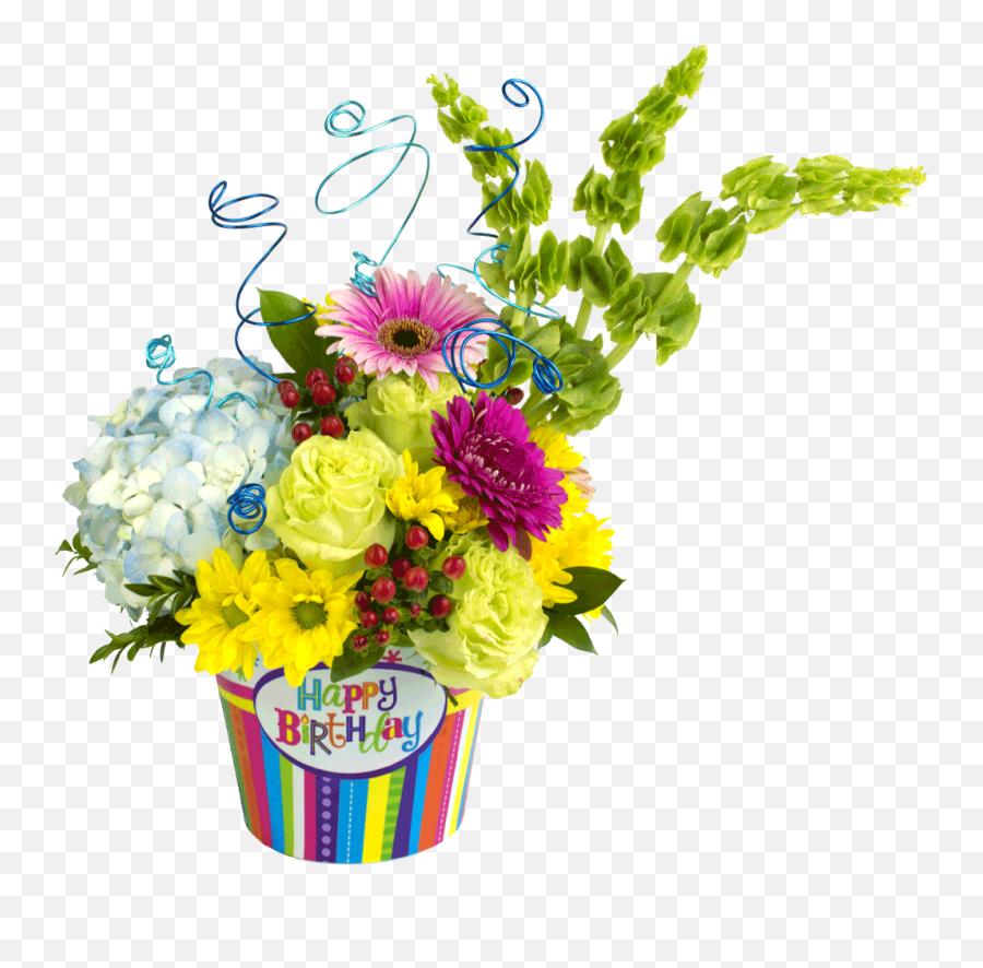 Happy Birthday Celebration Bouquet - Birthday Flower Bouquet Png Emoji