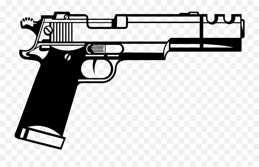 Handgun Beretta Semiautomatic Gun Pistol - Gun Clipart Emoji