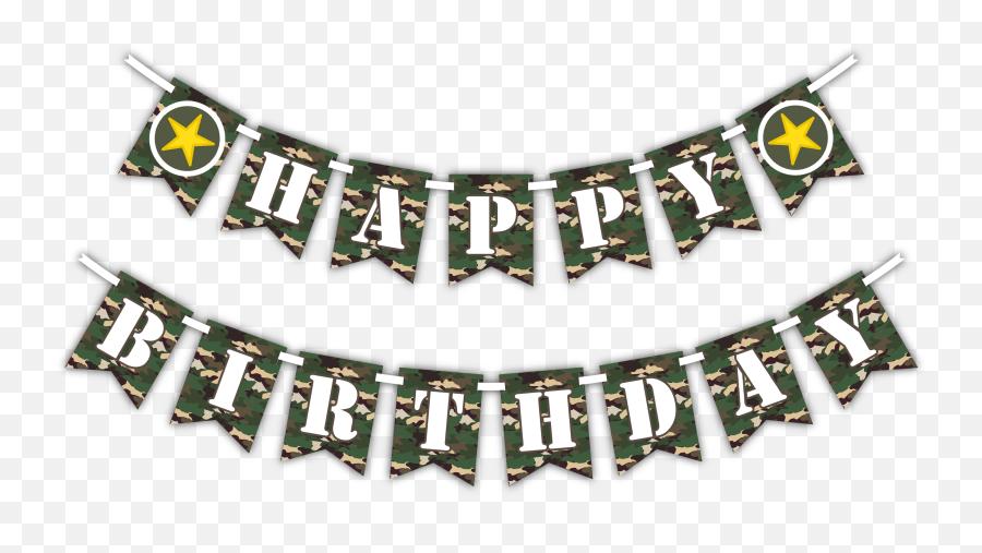 Classic Camo Happy Birthday Party Banner Classic Camo Happy Birthday Party Banner - Happy Birthday Banner Png Emoji
