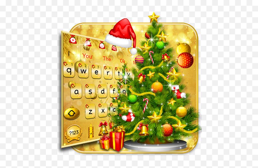 Golden Christmas 2018 Keyboard Themes - Programu Zilizo Christmas Mubarak In Urdu Emoji,Christmas Tree Emojis