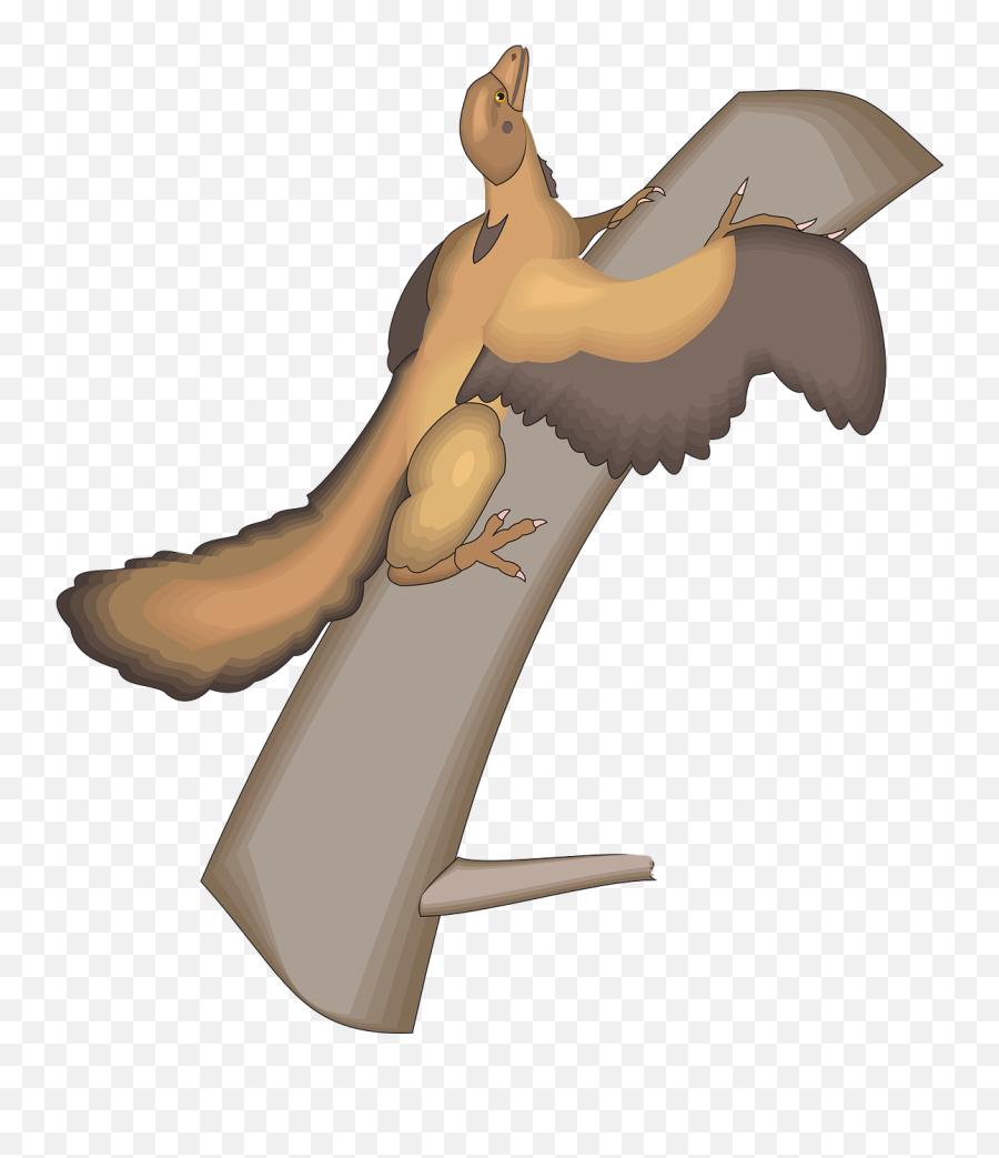 Tree Bird Wings Ancient Trunk - Archaeopteryx Emoji