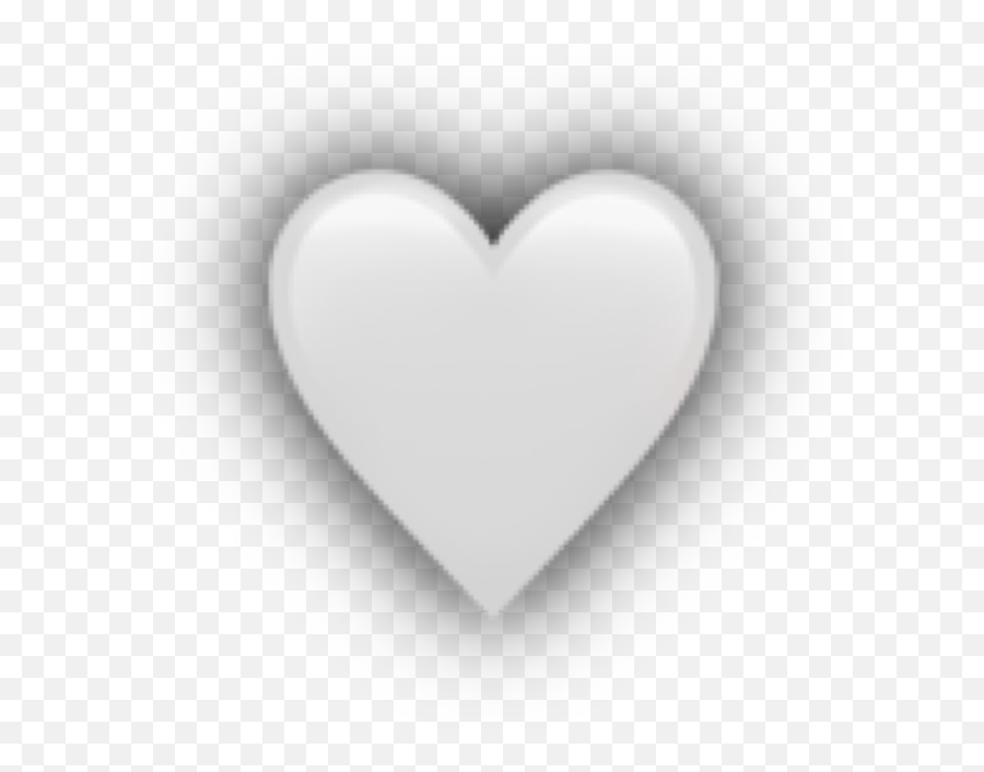 Heart White Shadow Overlay Emoji Apple Iphoneemoji Free - Heart