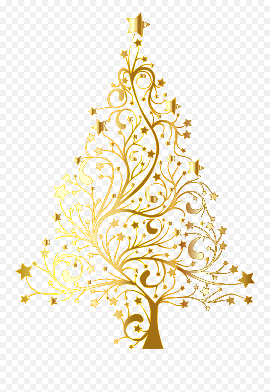 Clipart Snowman Gold Transparent - Gold Christmas Tree Vector Emoji,Christmas Tree Emoticon