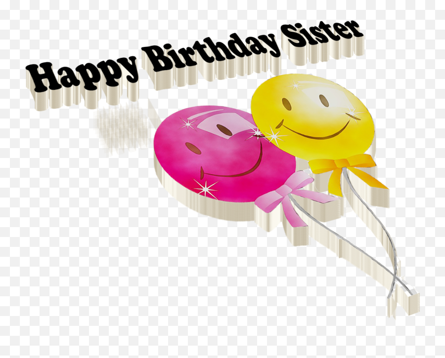 Happy Birthday Sister PNG Free Download - Clip Art Emoji