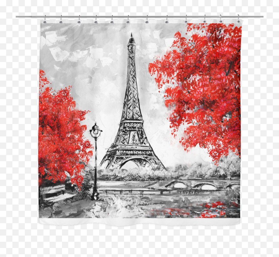 Red Curtain Png - Landscape Painting Black And White Emoji,Eiffel Tower Emoji Iphone