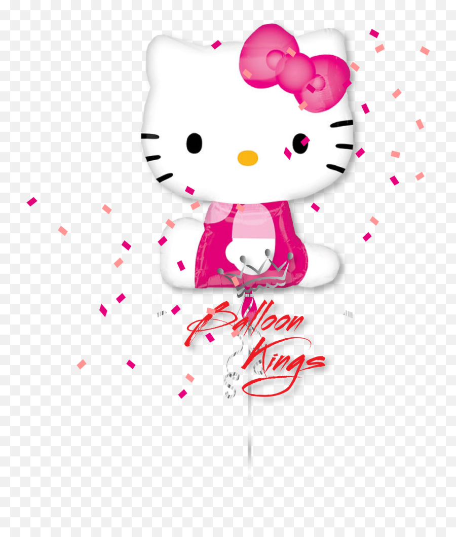 Download Hello Kitty Happy Birthday Balloons Hd Png - Background Hello Kitty Png Emoji,Superman Emoji Art Copy And Paste