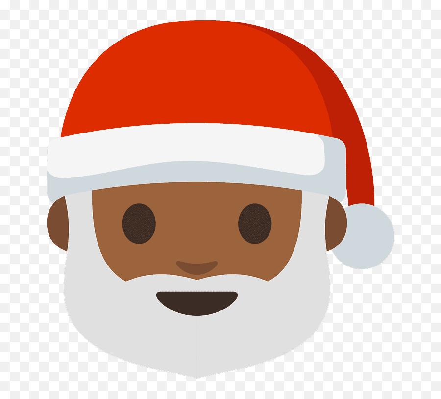 Santa Claus Emoji Clipart - Transparent Black Santa Emoji,Santa Emoji Android