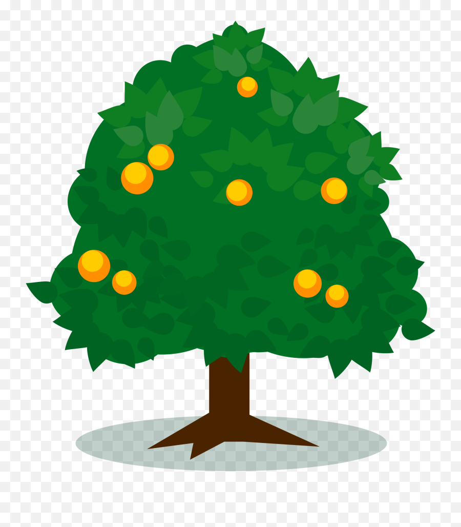 Tree With Fruits Vector Art Image - Mango Tree Vector Png Emoji,Apple Gun Emoji