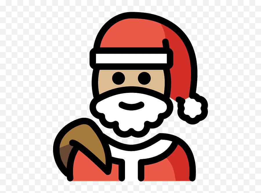 Santa Claus Emoji Clipart - Santa Claus,Santa Emoji Android