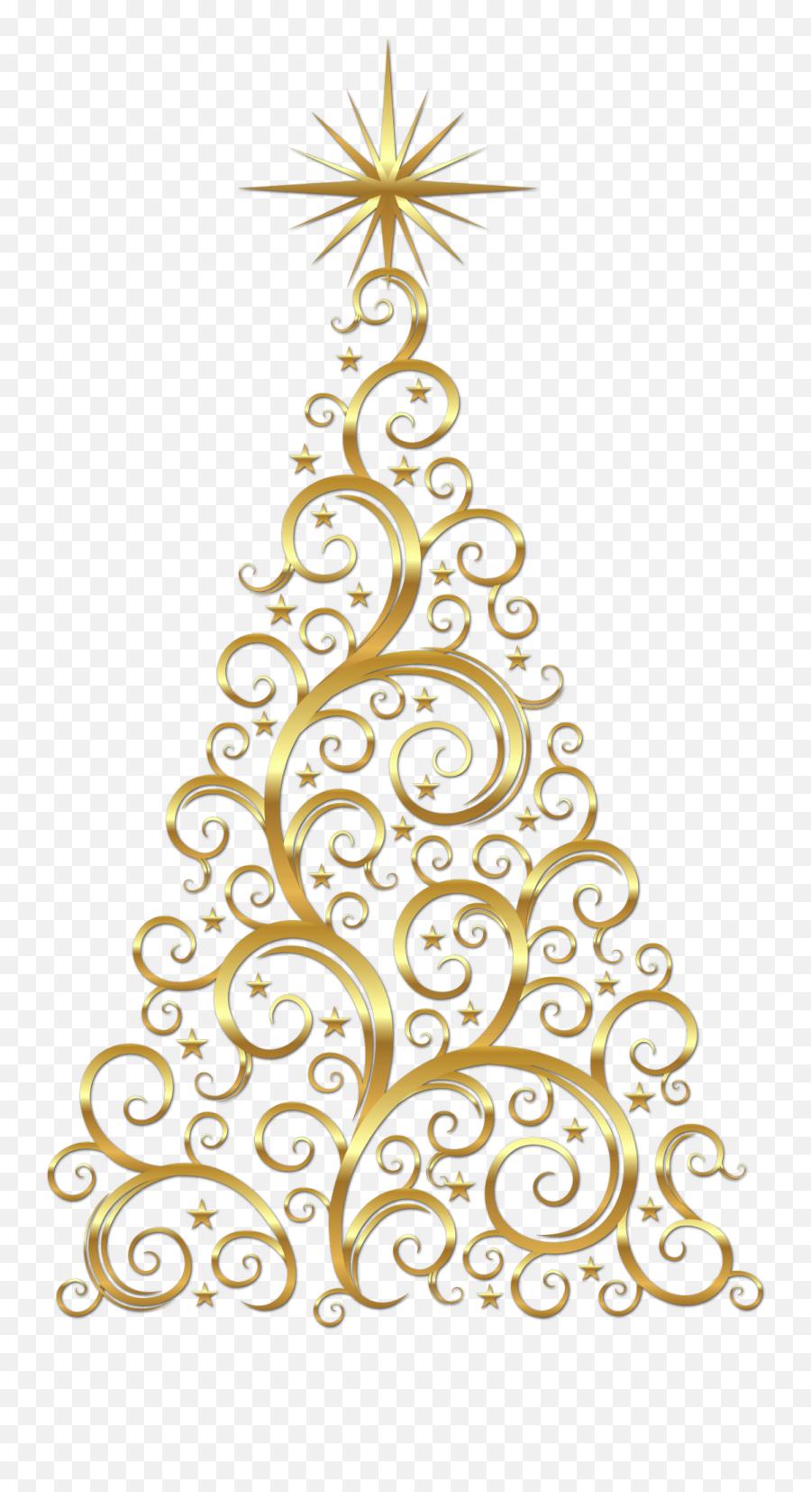 Christmas Tree Vector Banner Royalty - Gold Christmas Tree Clipart Emoji,Christmas Tree Emoticon
