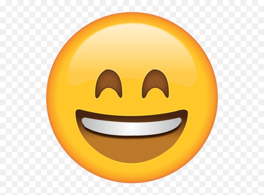 Smiling Emoji With Smiling Eyes - Eyes Closed Smiling Emoji,Laughing Emoji