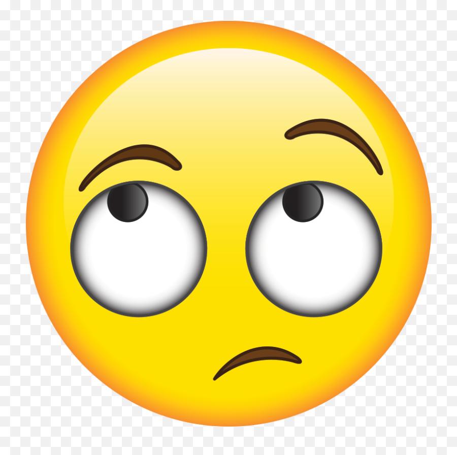 Pin - Transparent Emoji Roll Eye