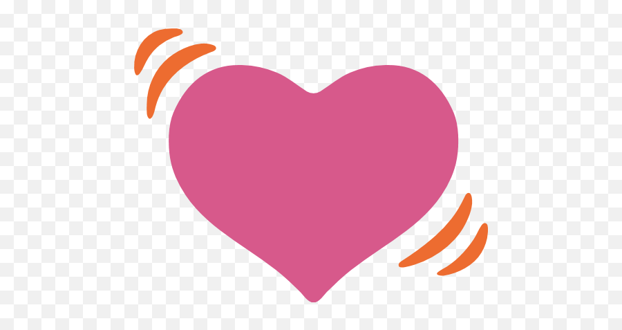 Beating Heart Emoji For Facebook Email Sms - Android Emoji Heart Png