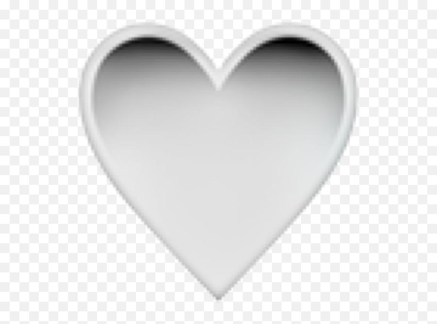Heart Black Emoji Iphone Gradient White Blackwhite Stic - Heart