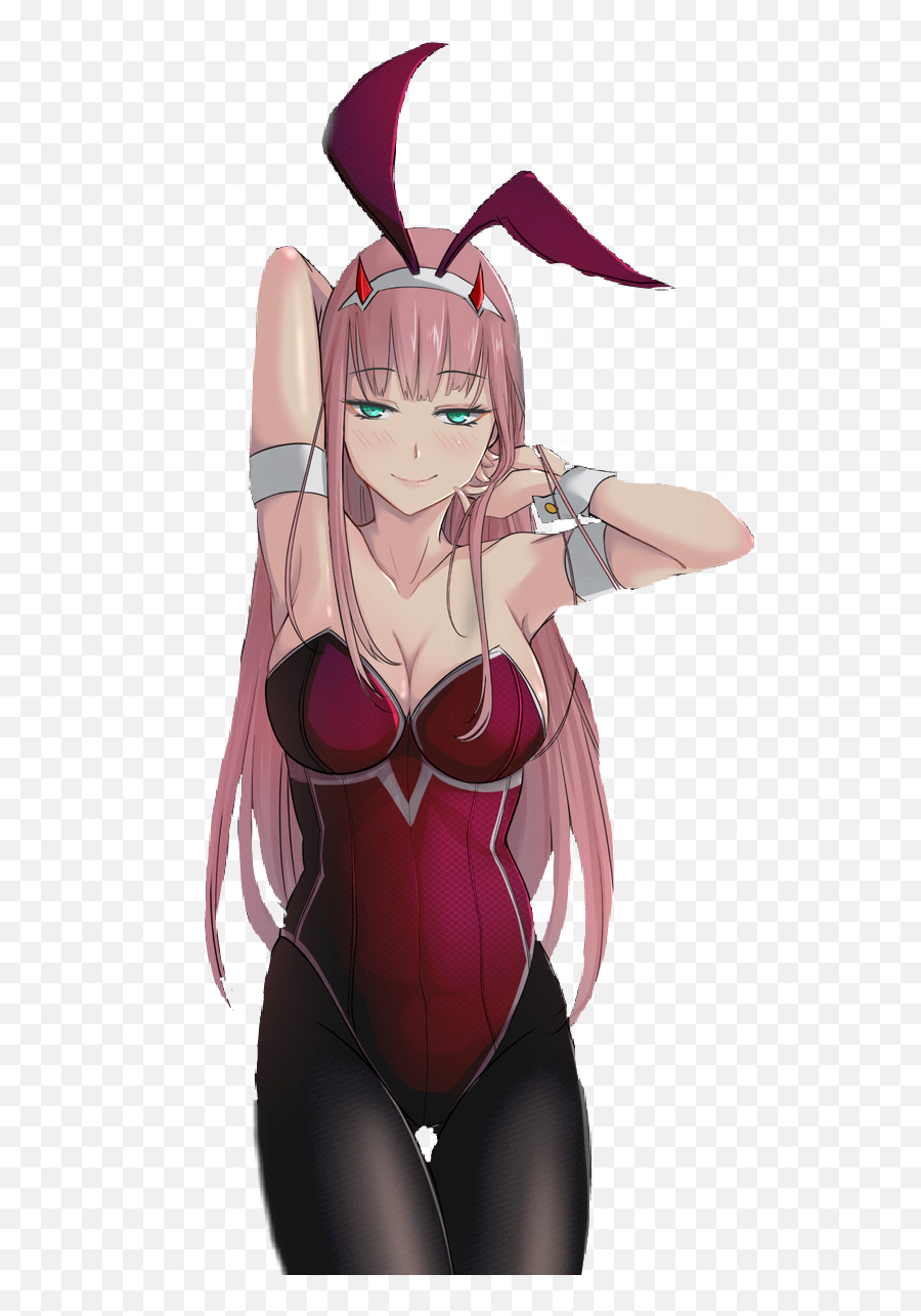 Zerotwo Zero Two Anime Animegirl Pink - Darling In The Fanxx 02 Bunny Girl Emoji