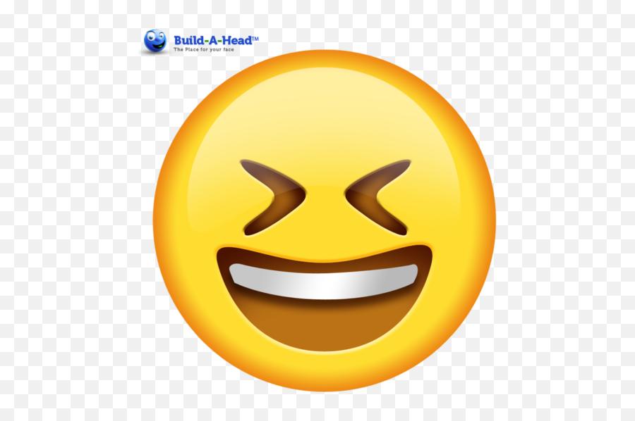 Funny Crossed Eyes Emoji Cutouts - Grinning Squinting Face Emoji